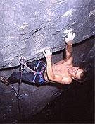 Guido Kostermeyer en Wall Street, 8c.Foto: www.climbing.de