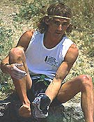 Patrick Edlinger, todo un mito de la escalada de los 80.- Foto: archivo Desnivel