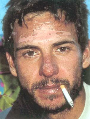 Alfonso Vizán, tras regresar del Thalay Sagar (1992)