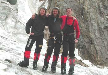 El equipo al completo: Urs, Thomas e Iwan- Foto: www.berghaus.de