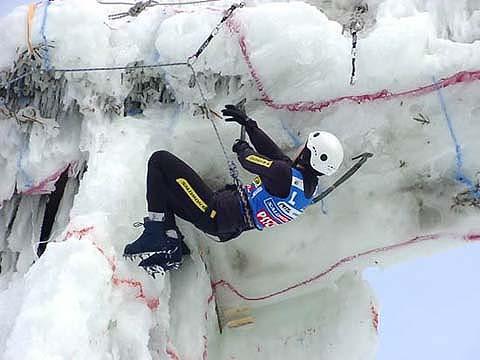 Ines Papert, campeona de la IWC 2001 en acción - Foto: www.icetime.com