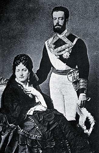 Los padres del Duque durante su reinado en España