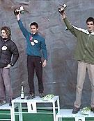 Podium final masculino de la Copa de España 2001: Patxilín, 2º,