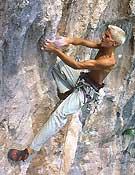 Edu Marín escalando en Montgrony.Foto: archivo Desnivel