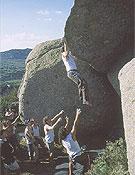 Momentos de la competición Carpetovetónica 2001, en el sector La Muela.Foto: Ismael Velasco