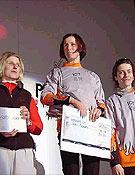 Podium Femenino en Saas-Fee