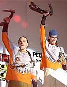 Harald Berger y dimitri Bytchkov, campeones 2002 de la Copa del Mundo de Escalada en Hielo.Foto: www.iwc-quebec.com
