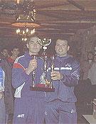 El doblete de campeones. Foto: Manuel Catalán y Tomás Serra
