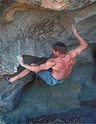 Toni Lamprecht escalando en Grampians, Australia.Foto: www.udini.com