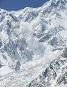 Alud en los Picos Mazeno