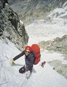 Toni y Joan escalando el corredor Kinshofer