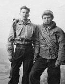 Con Jo Smith,en Inglaterra (1953).- Foto: Archivo Anglada