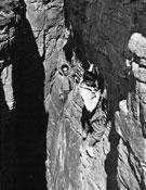 Escalando en Schopfloch con amigos del Club Alpino Alemán.- Foto: Archivo Anglada