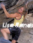 Lisa Rands, una de las máximas exponentes del búlder femenino. En la foto, en Two fingers variation, 7c, Joe's Valley, USA.Foto: Vbouldering Magazine