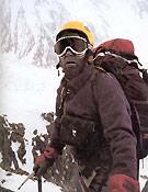 Kurt Diemberger en el K2 - Foto: El nudo infinito