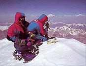 """Cima del K2, su tercer ochomil. La pisaron durante """"la expedición perfecta"""", según Juanito Oiarzábal - Foto: Juan Tomás"""