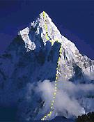 Arista norte del Ama dablam (Variante Australiana) Foto: Exped. Arista Norte 2002