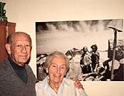 Buyse junto a su mujer Anita  ~ Archivo Desnivel