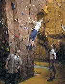 Detalle de uno de los muros del centro deportivo de Espacio Acción