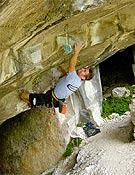 Christian Bindhammer en Underground, una vía de Massone que acaba de recotar a 9a.Foto: Andreas Bindhammer