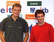 Alberto y Jon durante la presentación de la expedición. Hoy partían hacia Nepal- Foto: www.eitb.com