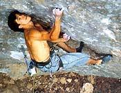 Alpinismo Deportivo, un bonito 8c de Cuenca resuelto por Pablo en dos intentos.Foto: L. A. Félix