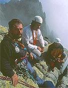 Ezequiel Conde y César Pérez de Tudela en la cima del Torreón de Galayos - Foto: José I. Gordito