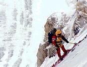 "Jacek Berbeka, reunión en la arista norte del K2 - Foto: <a href=""http://www.netia.pl"">netia.pl</a>"