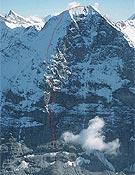 Reach for the light (1.980 m), última apertura en la cara norte del Eiger- Foto: Klaus Fengler