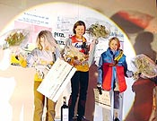 "Podium femenino en Saas-fee 2003 - Foto: <a href=""http://www.ice-time.com"">ice-time.com</a>"