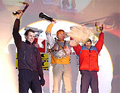 "Podium masculino en Saas-fee 2003- Foto: <a href=""http://www.ice-time.com"">ice-time.com</a>"