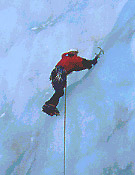 En la inmensidad de hielo de la cascada Grand Bleu, Fournel - Foto: Xavier Teixidó