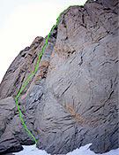 Los Esclavos del Barómetro (VII, A2/ V-VI, A1, 500 m), nueva ruta eslovena a la Torre Norte del Paine.   - Foto: Tomaz Jakofcic