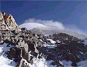 """Camino del C3 en la arista norte del K2. - Foto: <a href=""""http://www.netia.pl"""">netia.pl</a>"""