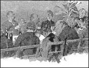 Otra ilustración, en el comedor del Rigi-Kulm.