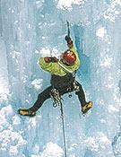 Alberto Ureña escalando sobre el excelente hielo del Ouray Ice Park. - Foto: José I. Gordito