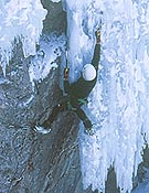 Chiro Sánchez, drytooling en Ouray, Colorado. - Foto: José I. Gordito