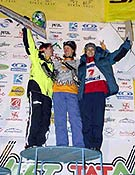 "Podium femenino en Kirov: Rashitova (2ª), Papert (1ª) y Maslova (3ª). - Foto: <a href=""http://www.ice-time.com"">ice-time.com</a>"