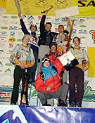 "Podium masculino en Kirov: Tchereshnev (2º), Krivosheitsev (1º) y Berger (3º). - Foto: <a href=""http://www.ice-time.com"">ice-time.com</a>"