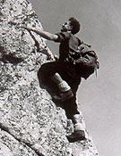 Faus escalando en la Maliciosa, Madrid. - Foto: Col. Agustín Faus