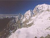 Integral de Peuterey, una clásica de Alpes. <br>Foto: Sebastián Álvaro