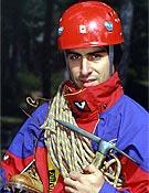 Un fanático (e inquieto divulgador) de la escalada invernal, José Isidro Gordito. - Foto: Col. José I. Gordito