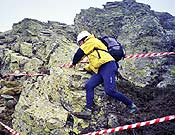 Participante durante una de la cuatro pruebas realizadas en el macizo del Montseny, Cataluña. - Foto: Manel de la Matta