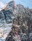 Cara norte del Trollryggen (1.200 m), Noruega. - Foto: mountain.ru