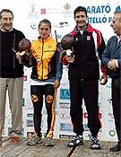 Los vencedores, y nuevos Campeones de España: Ester Hernández y Fernando García.  ~ Foto: FEDME