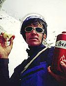 Valeri Babanov en plena ascensión al Pilar sureste. Su segundo asalto al Nuptse este mejoró en altura alcabzada, pero tampoco acabó en la cima. - Foto: babanov.com
