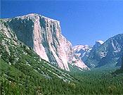 Valle de Yosemite, meca americana para escaladores, y hogar de variopinta fauna: osos, serpeintes de cascabel, coyotes, mosquistos, más mosquitos... ~ Archivo Desnivel
