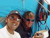 Dos buenos amigos, que vuelven a escalar juntos: Simone Moro (izq.)y Denis Urubko. - Foto: russianclimb.com