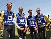 El cuarteto francés Ertips X Adventure en la llegada de Toktogul. Finalmente fueron terceros. - Foto: raidgauloises.com