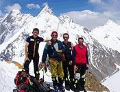 La expedición De Madrid al K2 al completo en el Campo 1. - Foto: Exped. Madrid K2 2003